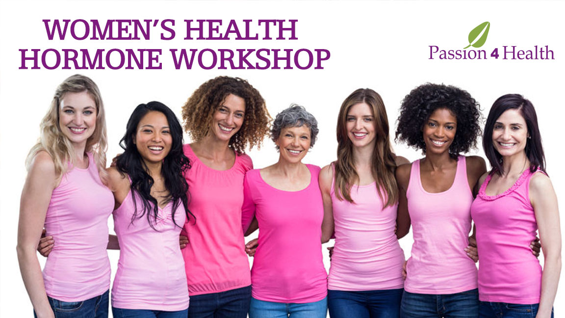 women's health hormone workshop event banner